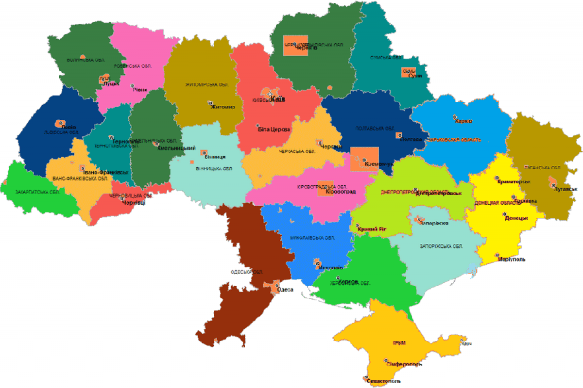 карты украины