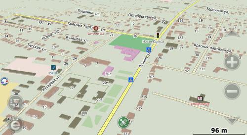 Карта Баштанки С Улицами